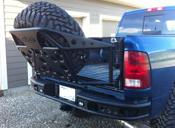 Addictive Desert Designs Dimple R Rear Bumper With Backup Sensor Cutouts For Your 2010+ Dodge Ram 2500 / 3500 HD