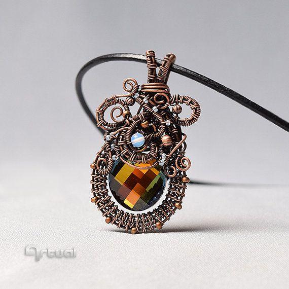 Swarovski crystal wire pendant copper jewelry wire by artual swarovski crystal wire pendant copper jewelry wire by artual aloadofball Choice Image