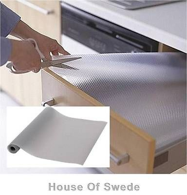 Ikea Non Slip Mat Drawer Liner Kitchen Bedroom Draw Cupboard Shelf Protect Grey Kitchen Drawer Liners Cabinet Liner Drawer Liner