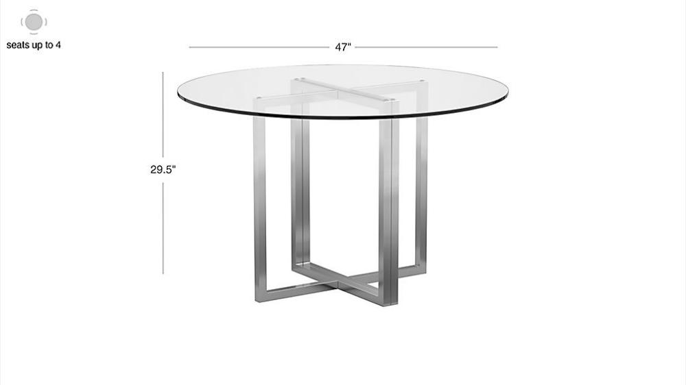 Silverado Chrome 47 Round Dining Table Reviews Cb2 Round