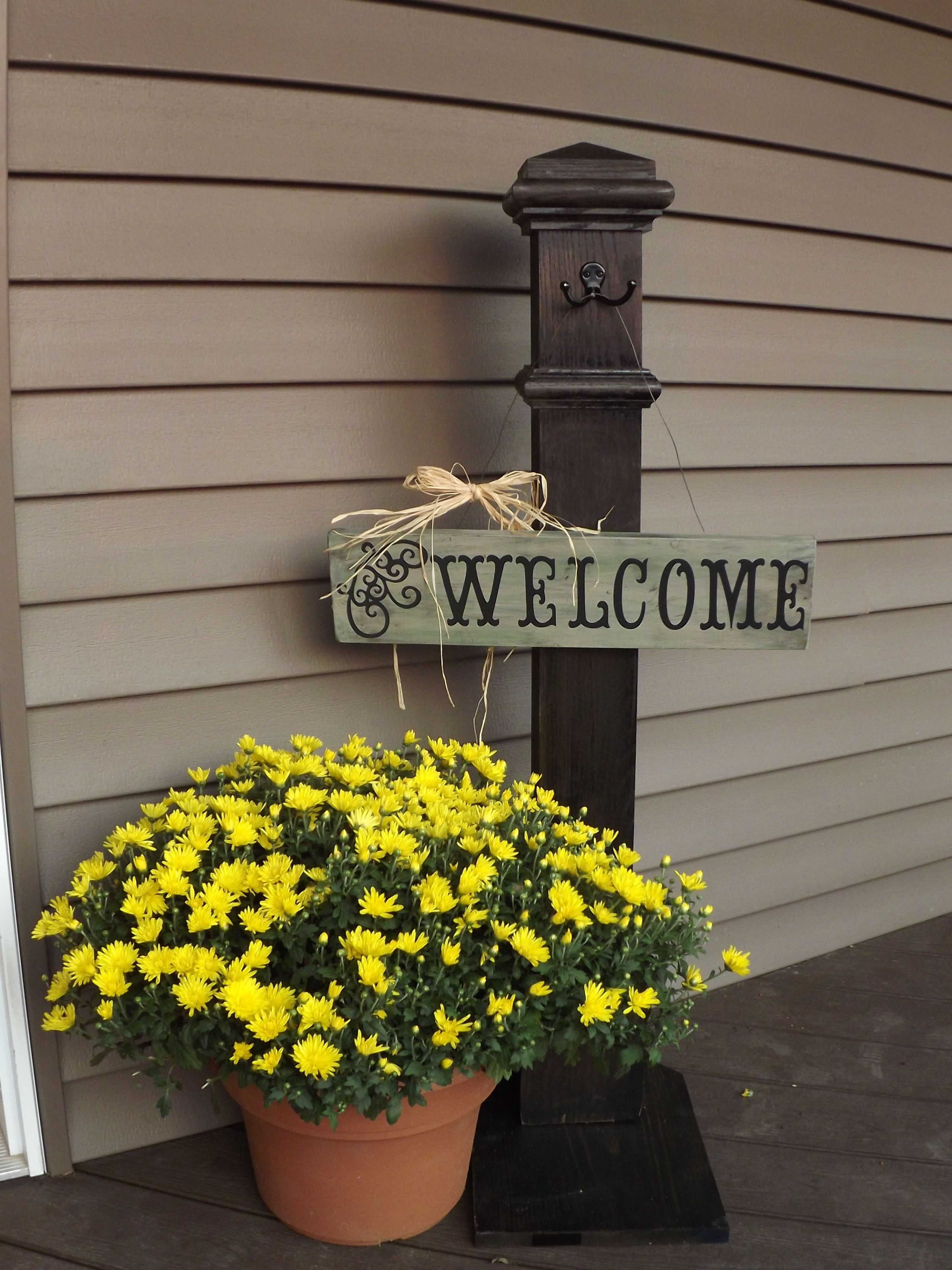 My front door welcome sign and post that i made my projects my front door welcome sign and post that i made rubansaba