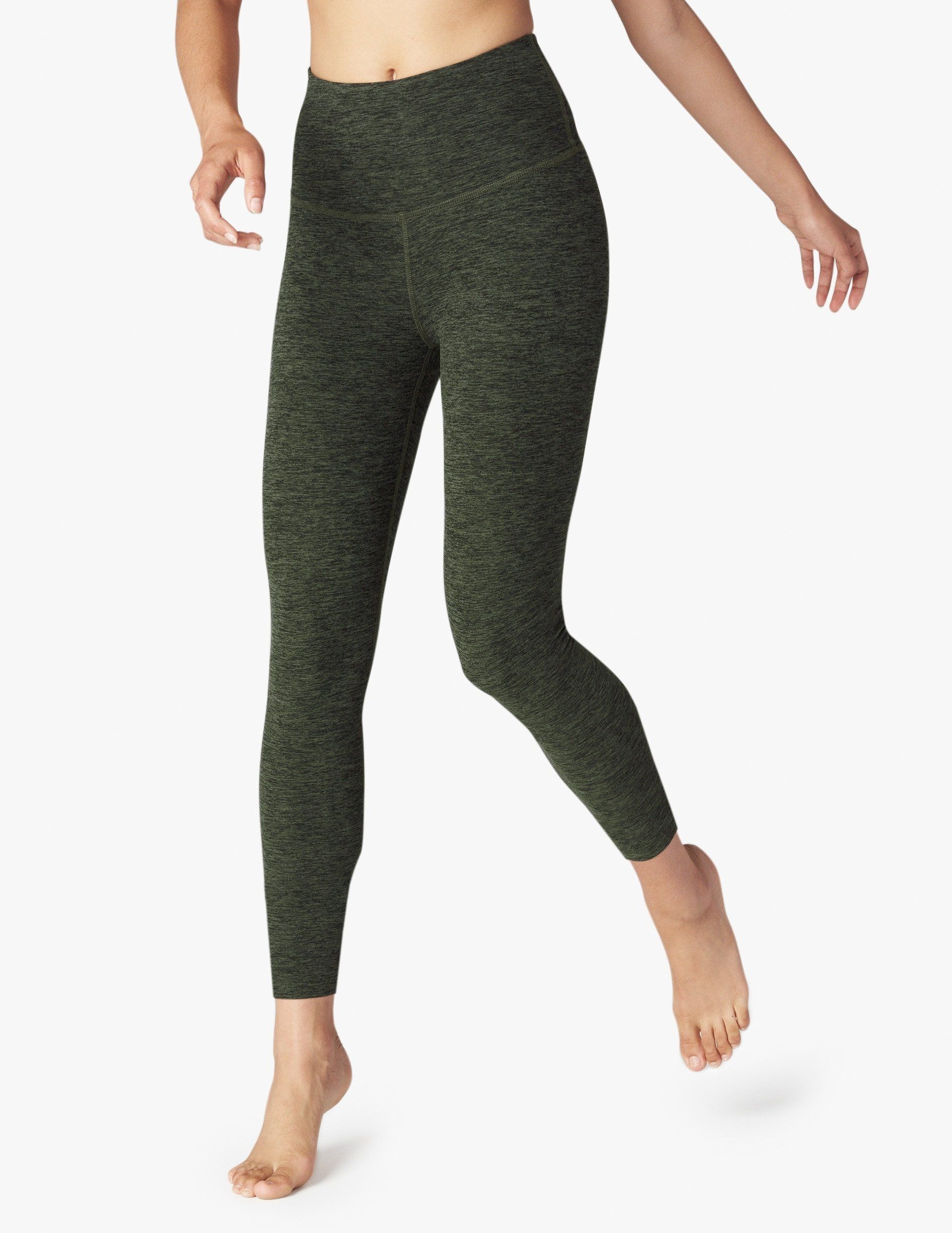ee68c120c6242 Spacedye Caught In The Midi High Waisted Legging - XS Black/Avitar Green