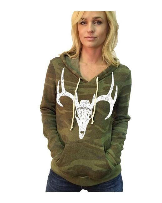 Download Country Deep Apparel Women's Camo Deer Skull Pullover ...