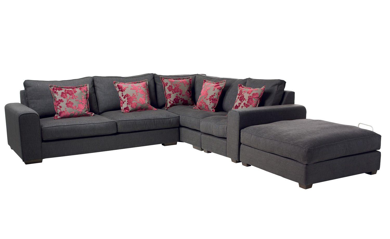 Heal S Modular Moretta Corner Sofa And Footstool Range Sofas Furniture