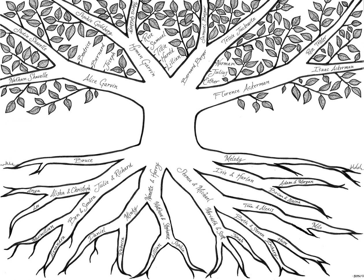 Family Tree Coloring Pages Many Interesting Cliparts Pertaining To