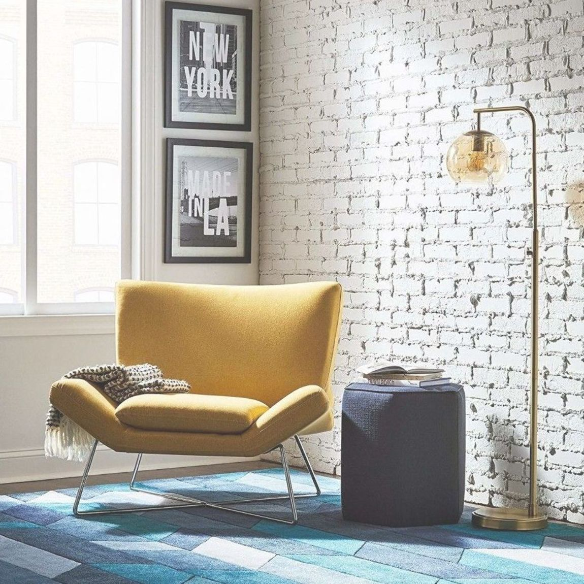 A Canary Yellow Accent Chair Bold Enough To Make A Statment In