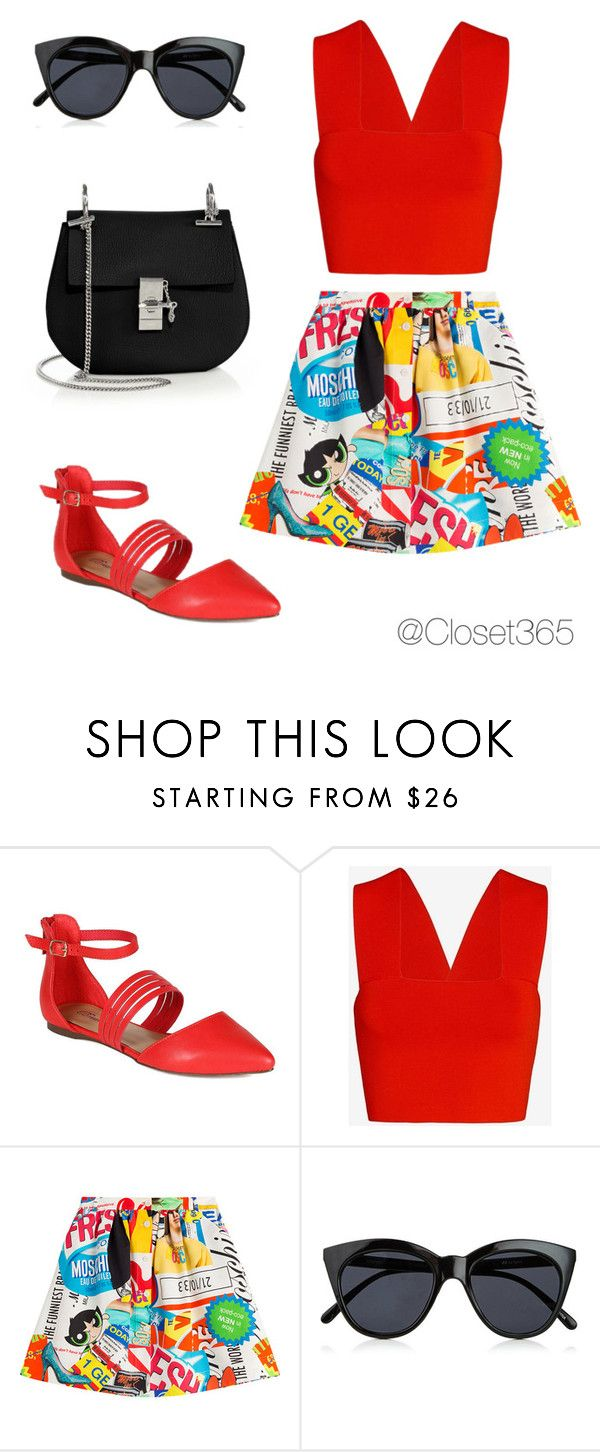 """Cartoon"" by closet365 on Polyvore featuring moda, A.L.C., Moschino, Le Specs y Chloé"