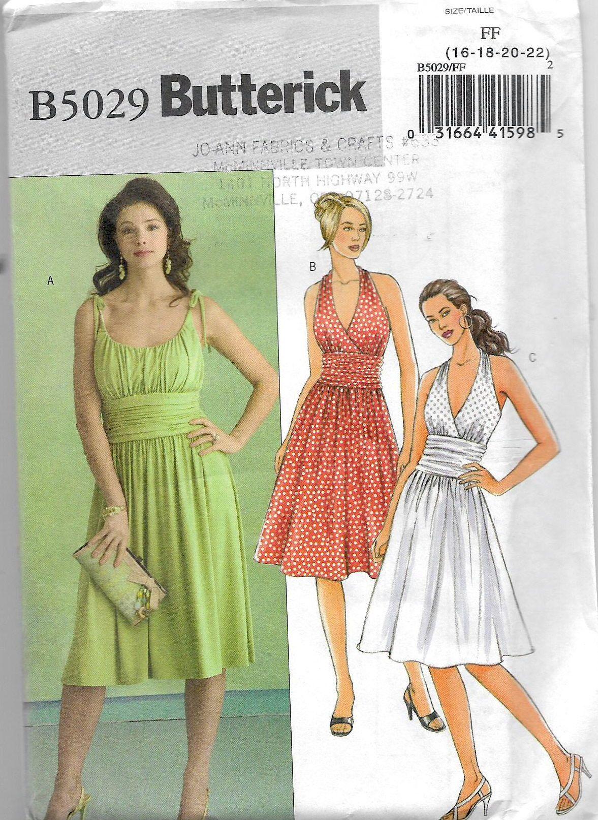Uncut Misses Size 16 22 Sewing Pattern Butterick 5029 Etsy New Dress Pattern Summer Dress Patterns Bridesmaid Dress Sewing Patterns [ 1614 x 1177 Pixel ]
