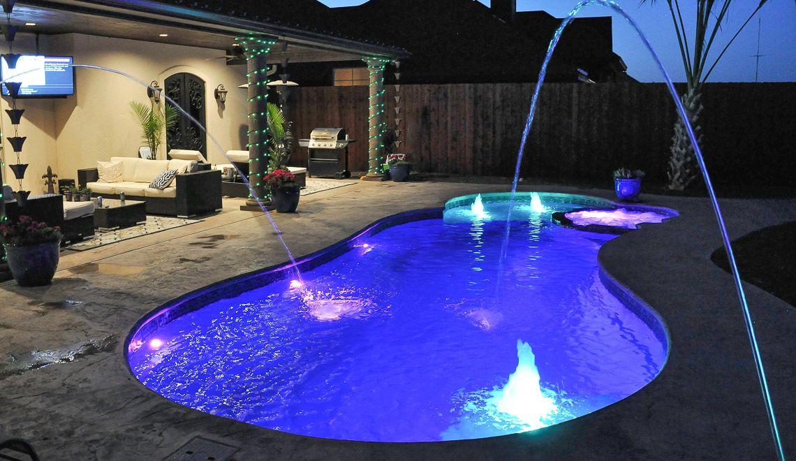 The Allure Pool With Spa, Tanning Ledge, & Splash Pad