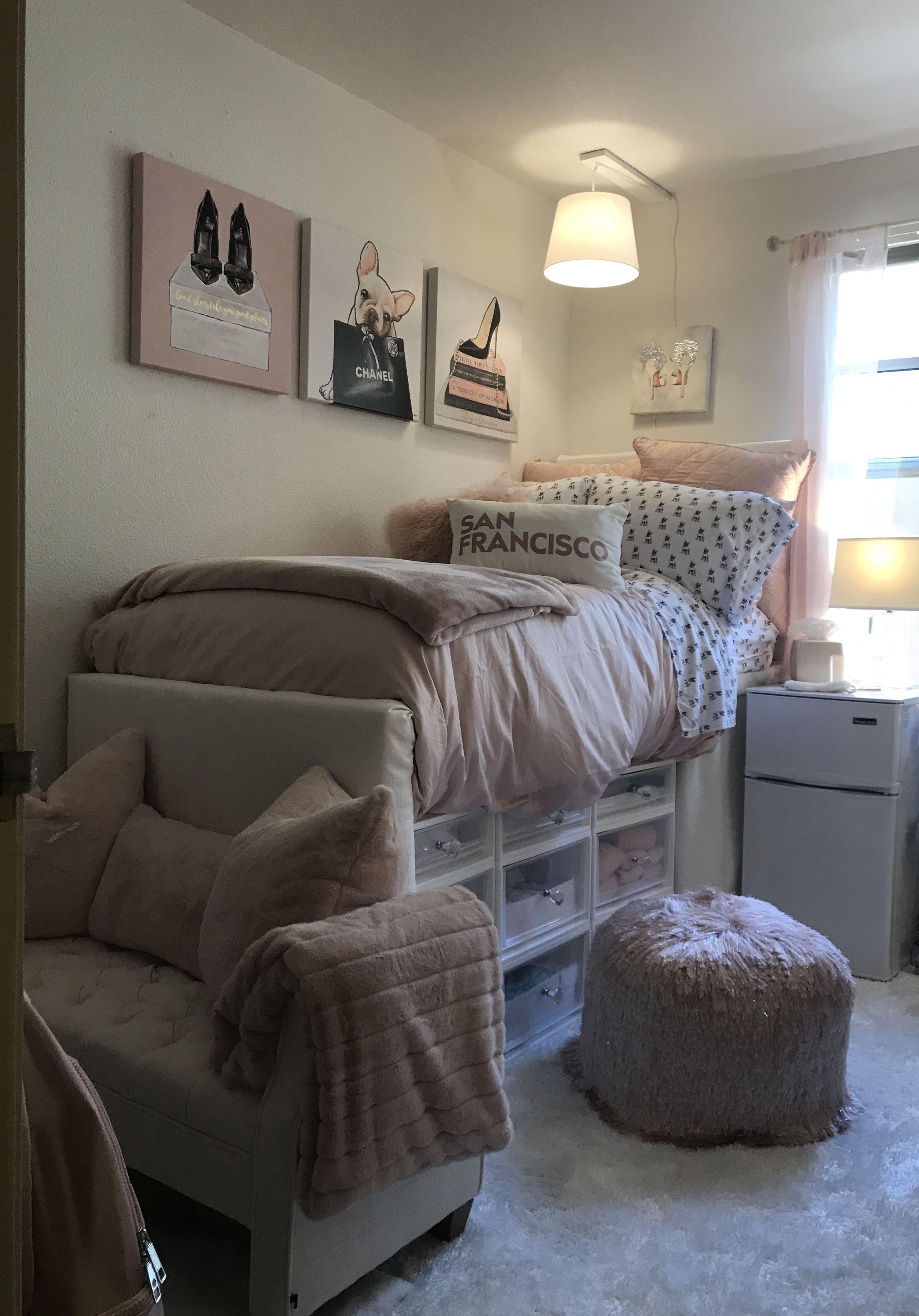 Small Dorm Room Ideas: After Lauren's Dorm Room Transformation