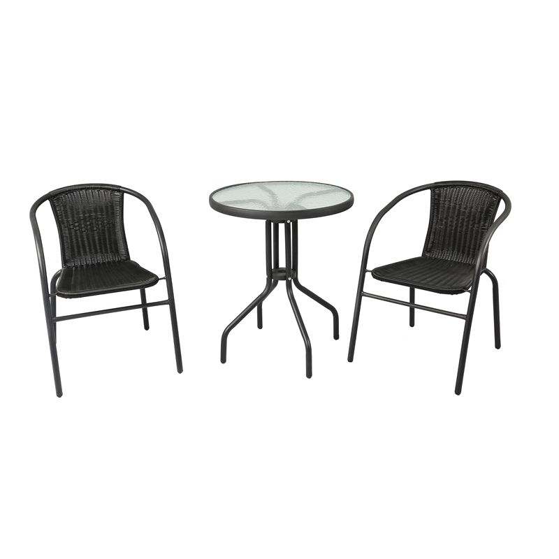Find Marquee 3 Piece Black Wicker Bistro Set At Bunnings Warehouse Visit Your Local For The Widest Range Of Outdoor Living Products