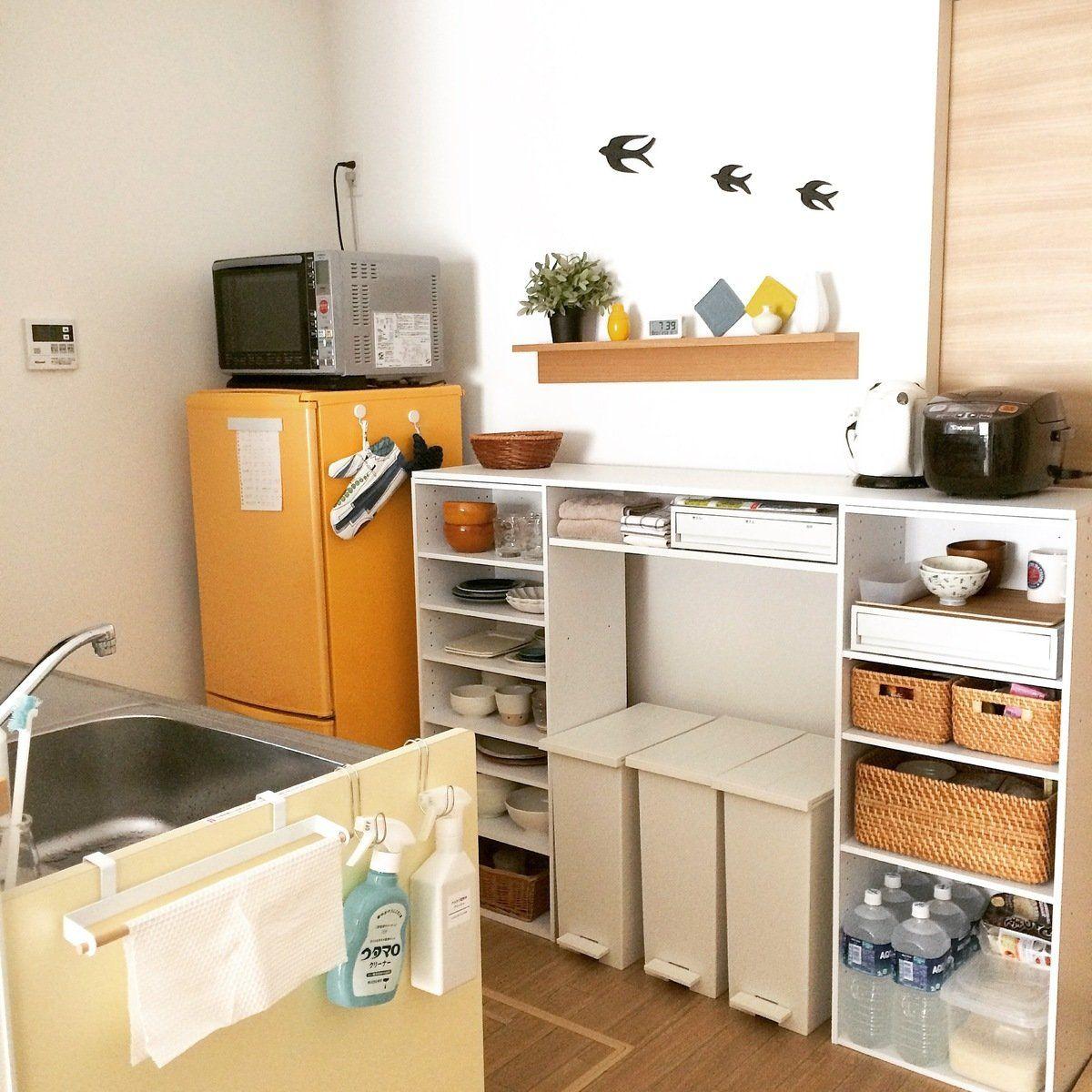 ニトリのカラーボックスが使える 我が家のキッチン収納実例