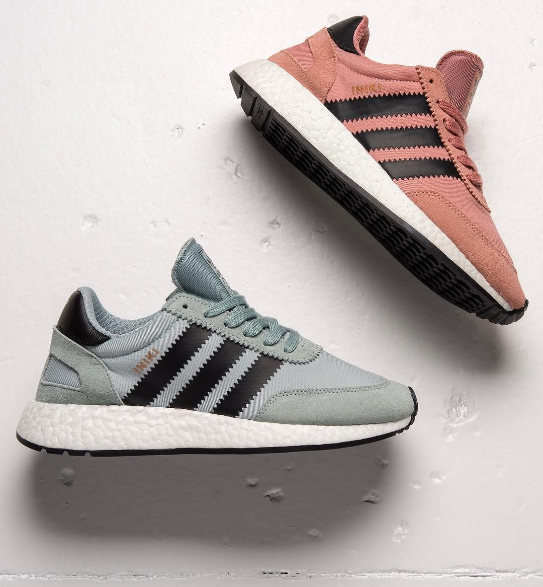 hot sale online 6592e 203db Adidas Iniki Runner Light Blue   Dusty Pink Credit   Finish Line