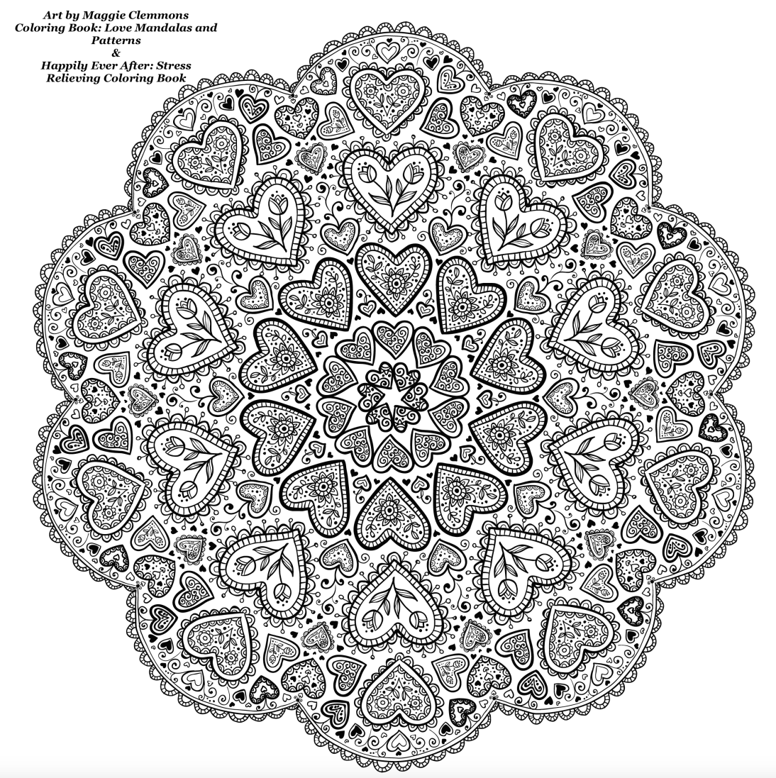 Free coloring pages from Adult Coloring Worldwide Art by Maggie