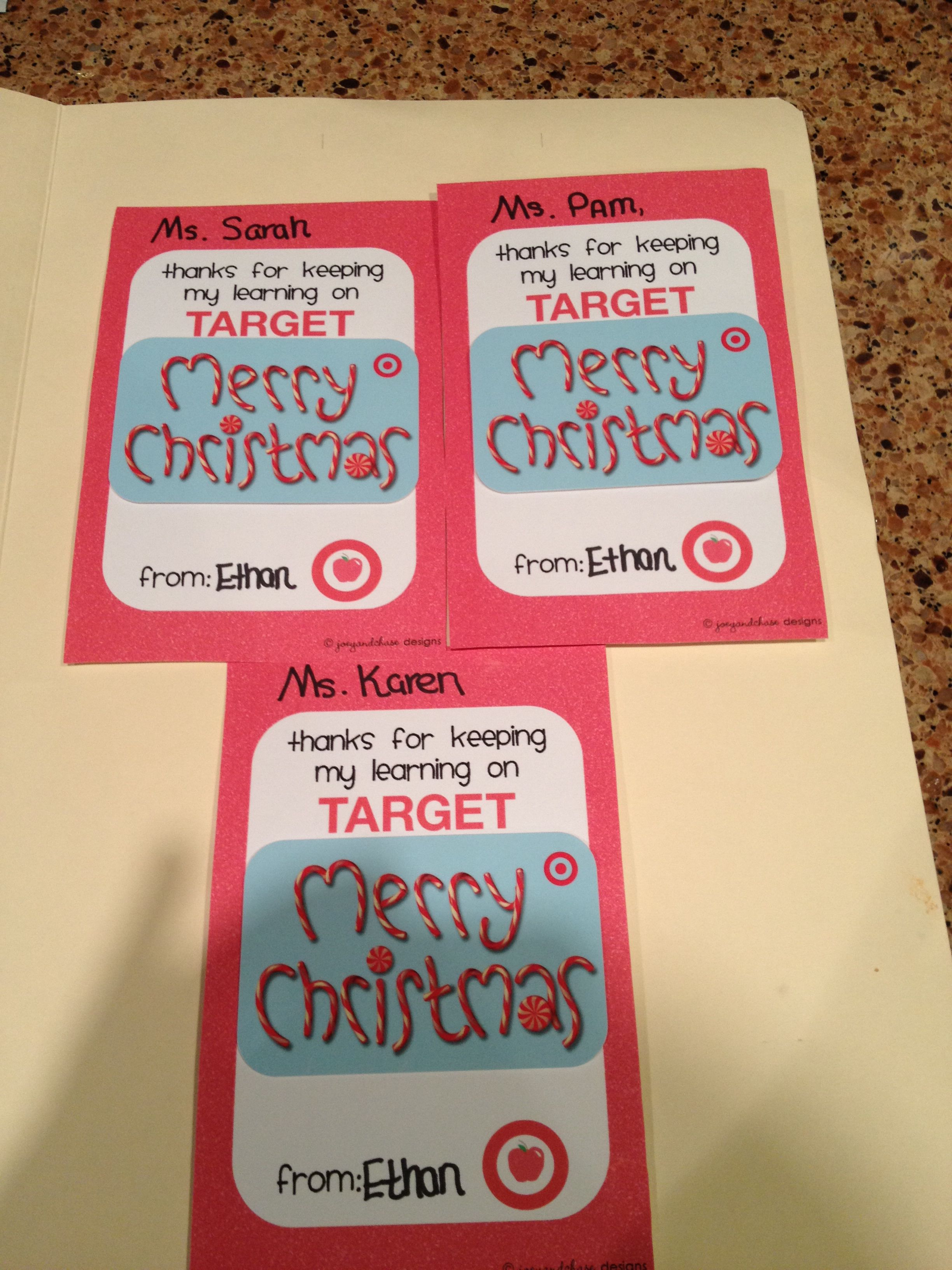 Target gift card teacher gift My Pinterest projects