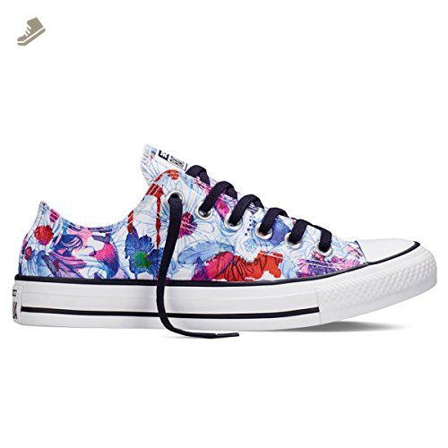 5b6fd5867dd43 Converse Ctas Daisy Print Womens Trainers White Multicolour - 4 UK ...