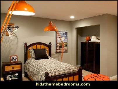 Basketball Theme Bedrooms All Sports Theme Bedroom Decorating Ideas