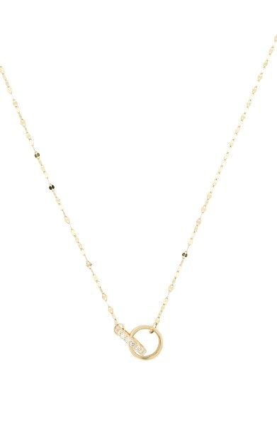 Lana Jewelry Initial 14K Gold Pendant Necklace with Diamonds Hc914uQH