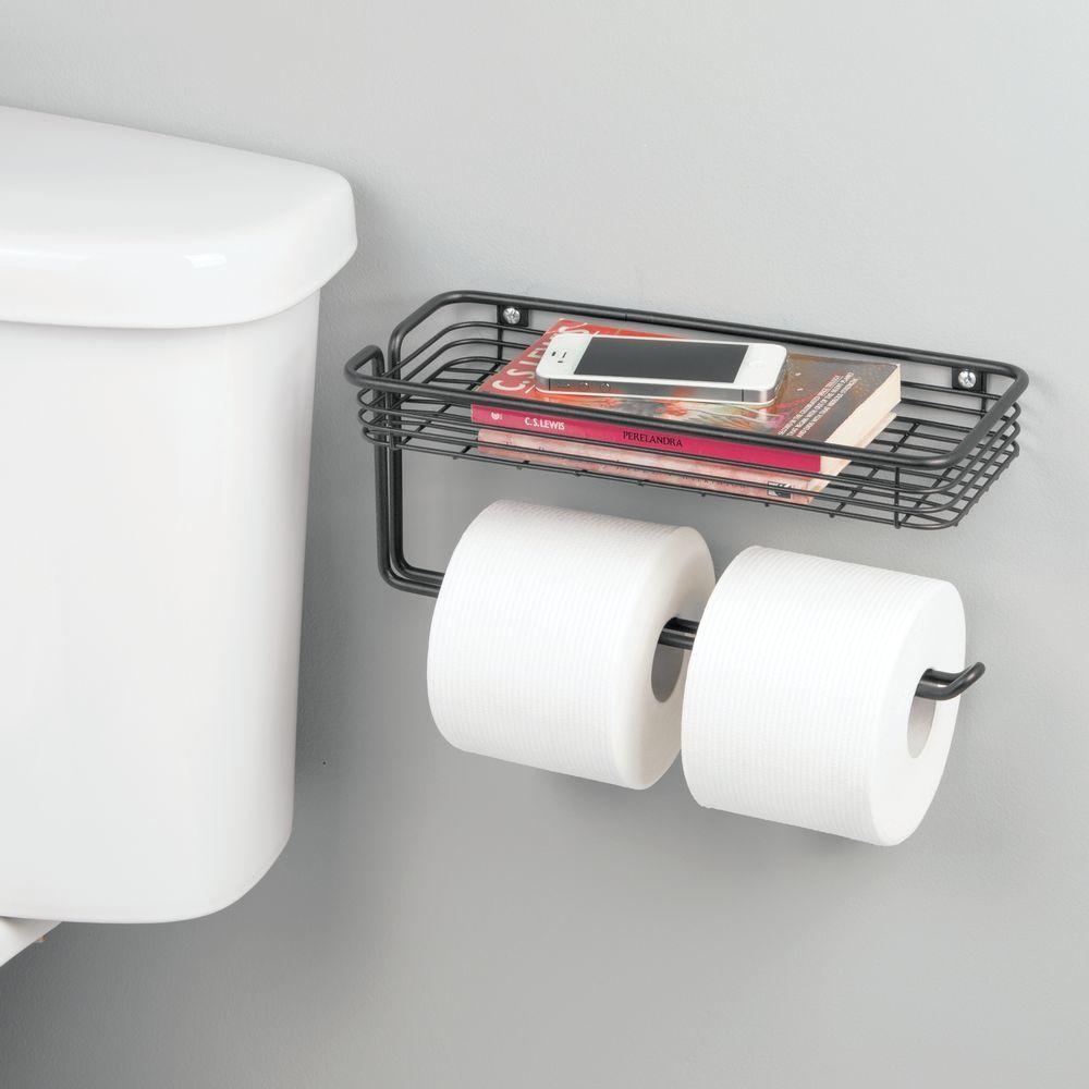 Wall Mount Toilet Tissue Paper Roll Dispenser Shelf In 2020 Wall Mounted Toilet Tissue Paper Roll Toilet Shelves