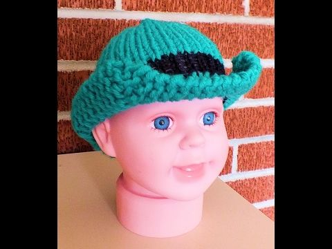 How To Loom Knit St Pattys Hat Youtube Loom Knitting
