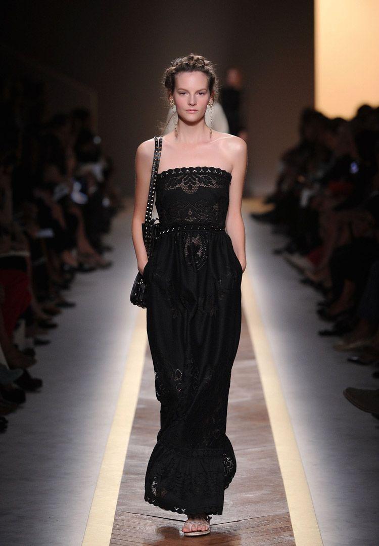 Black lace dress for summer wedding  Length u Bobiné Lace dress  cotton  polyamide lined