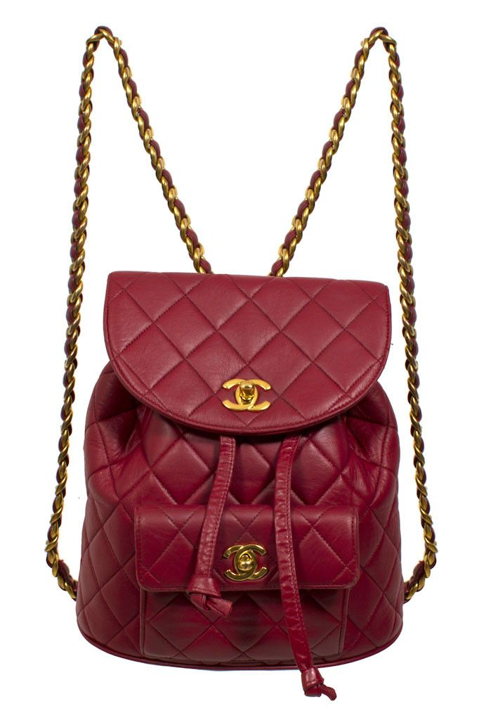 CHANEL RED MINI BACKPACK  vintage  577f44c3be577