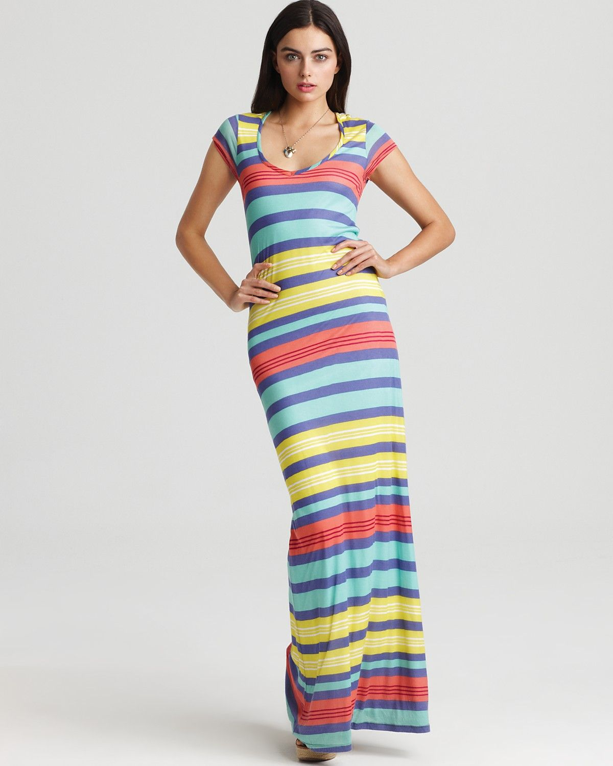 i LOVE stripes and this would have to be ridiculously altered for me (hemmed). but its amazing. and it would be worth it!