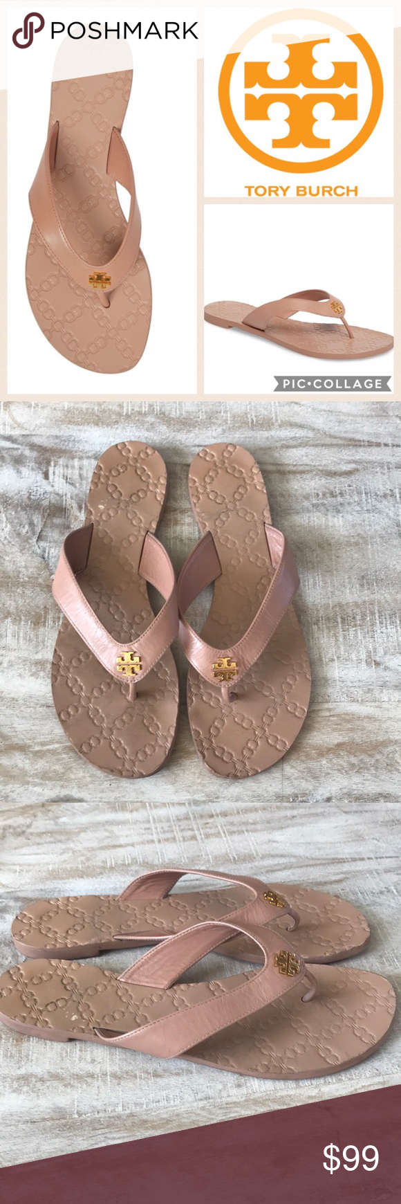 2631fec1bdc Tory Burch Monroe Flip Flop  Light Makeup  9.5 The epitome of carefree chic.