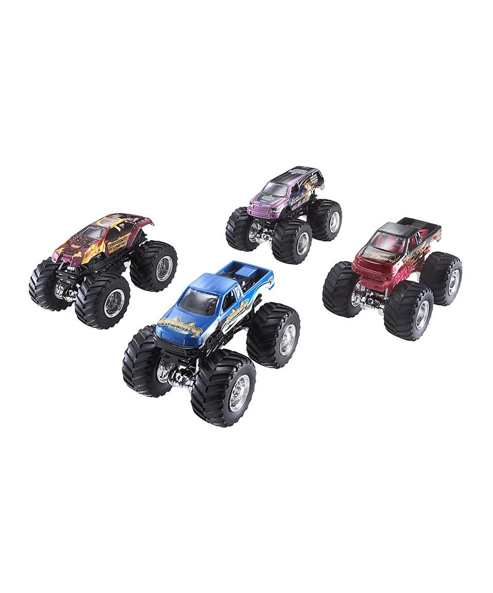 This Hot Wheels Monster Jam Tour Favorites Set by Monster Jam is perfect! #zulilyfinds