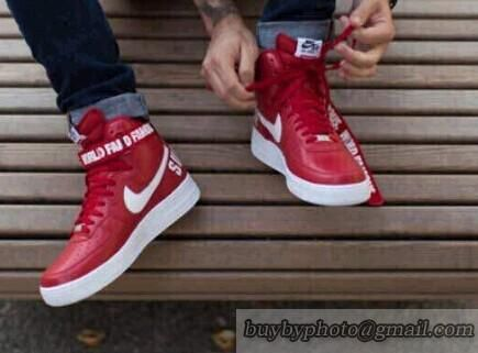 4334974994c NIKE AF1 AIR FORCE 1 HIGH SUPREME SP Lovers Jogging Shoes Men And Women  Shoes Monster Red