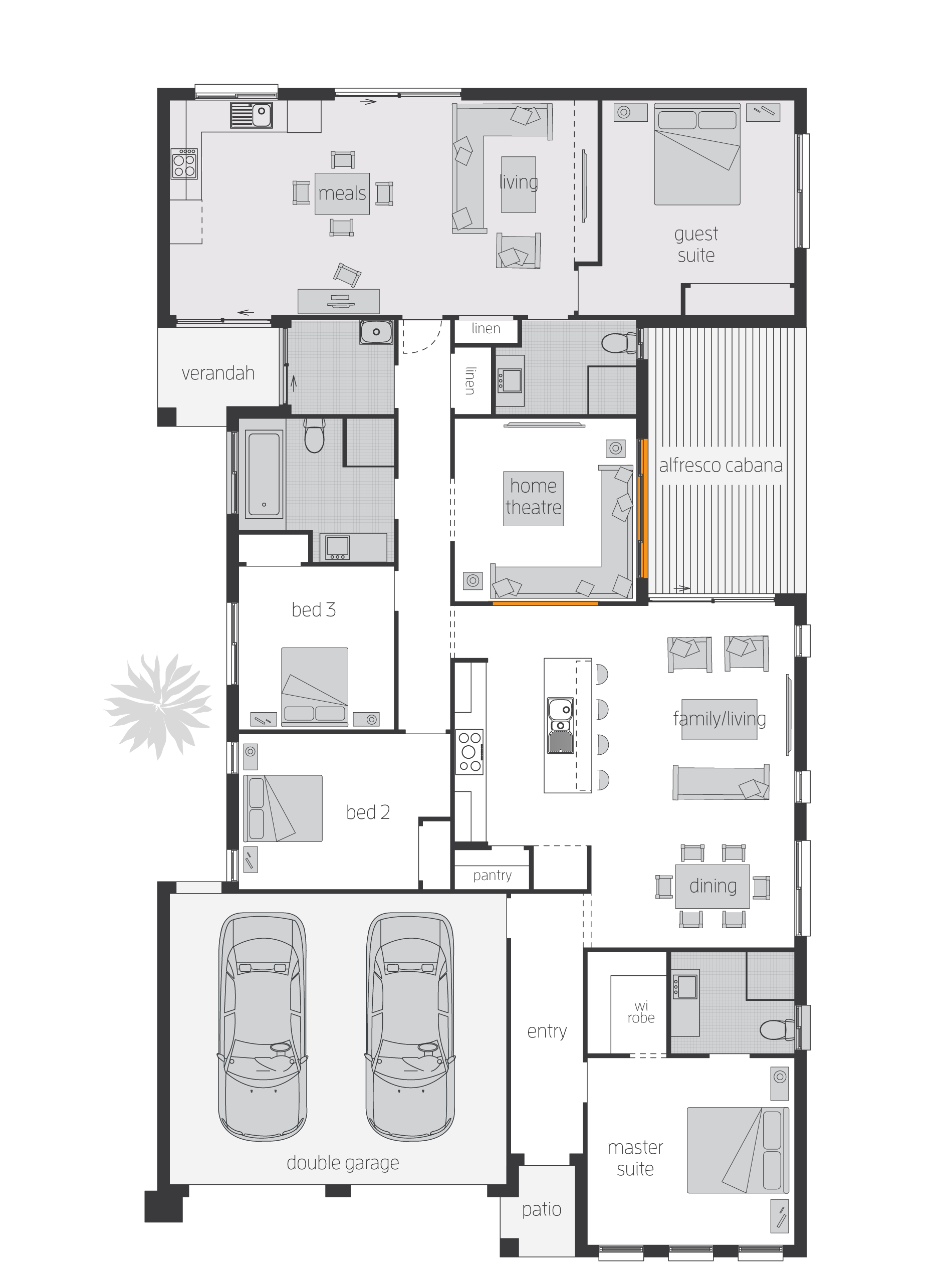 Duo2 floor plan by mcdonald jones perfect for extended for Extended family house plans