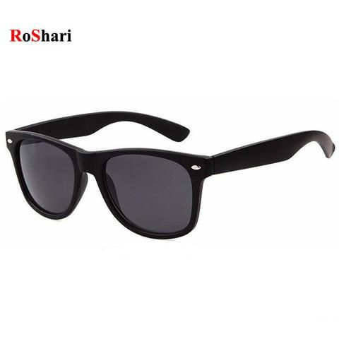 RoShari Vintage Classic sun glasses men sunglasses women Brand Designer  women Sunglasses Men Retro sunglass oculos f587df6630