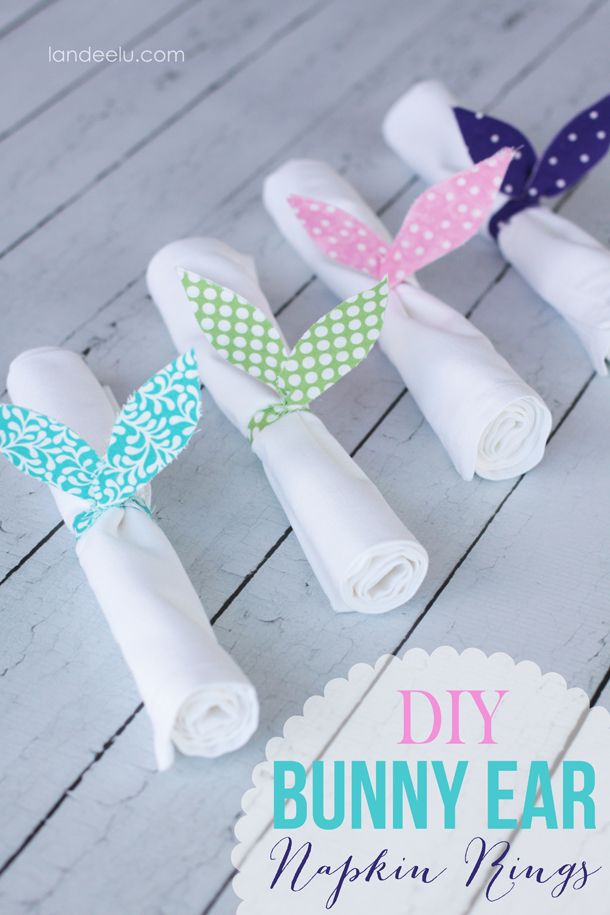 Diy Bunny Ears Napkin Rings Easy Fabric Bunny Ear Napkin Rings To Add A Cute Easter Touch To Your Table Easter Diy Easter Crafts Easter Bunny Ears