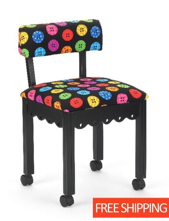Arrow Wood Sewing and Craft Chair with Gingerbread