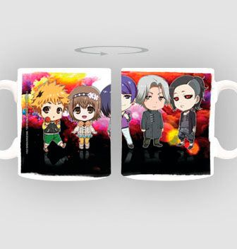 """Taza personajes. Tokyo Ghoul  Estupenda taza titulada """"personajes""""  fabricada en material de cerámica, 100% oficial y licenciada y perteneciente al manga/anime Tokyo Ghoul."""