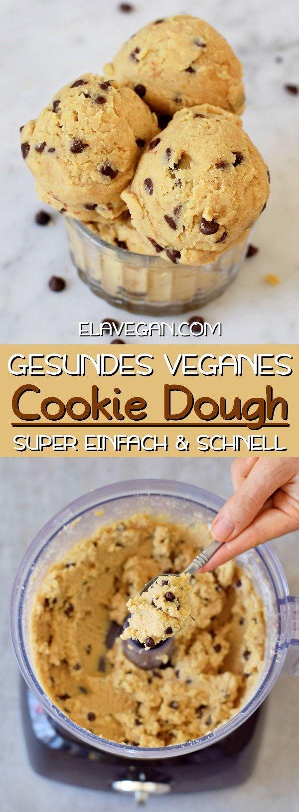 Dieser essbare vegane Keksteig enthält nur 8 Zutaten und eine davon wird dich wahrscheinlich überraschen! Das Cookie Dough Rezept ist viel gesünder als die meisten Plätzchenteige, ist proteinreich, eifrei und kann ölfrei und ohne Zucker gemacht werden! Der Keksteig ist schnell und einfach in weniger als 10 Minuten zubereitet. #keksteig #plätzchenteig #cookiedoughrezept | elavegan.com/de