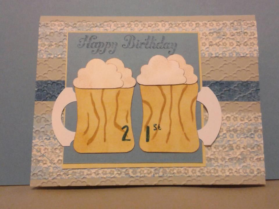 Punch Card For A 21st Birthday Punch Cards Cards Cute Mugs