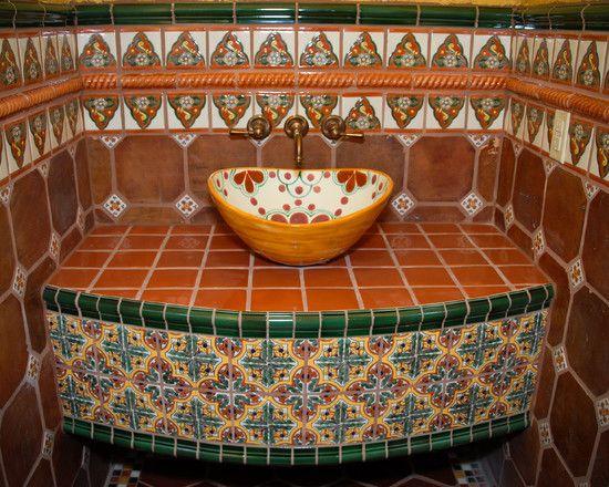 Mexican Tile Designs   Applying Mexican Bathroom Design For Unique .