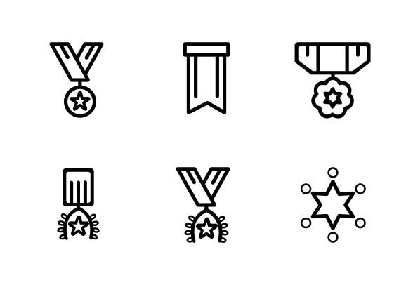 Medal And Trophy Icons By Diky Setiawan Icon Trophy Football Icon