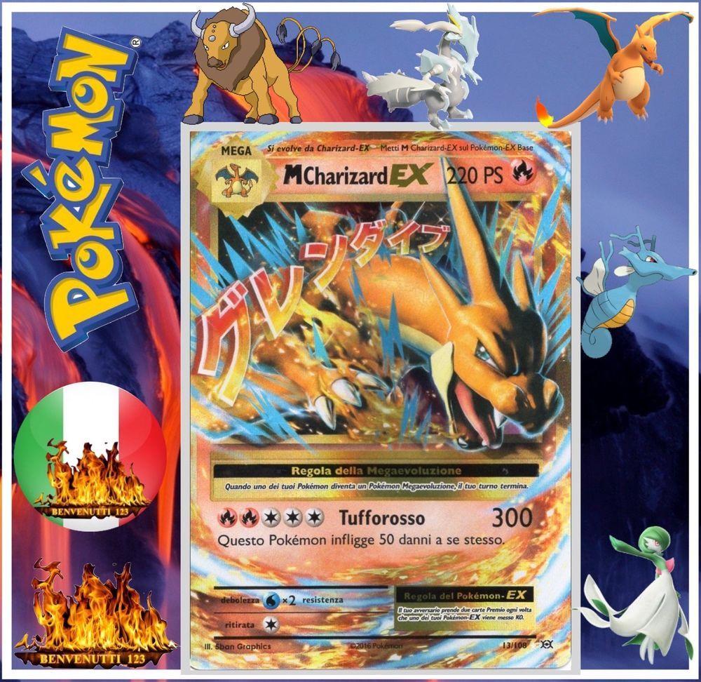 Pokemon Italiano Mega Charizard Ex Tauros Gx Gardevoir