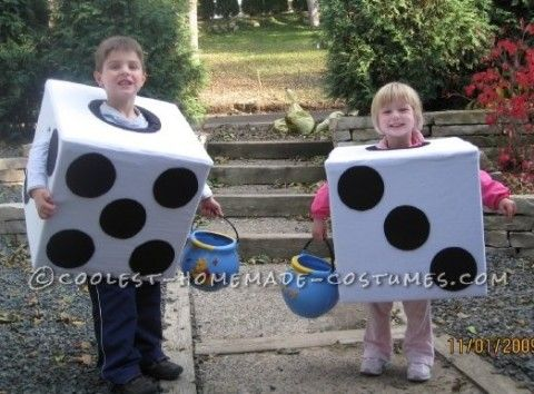 I made these dice costumes for my 5 year old son and 3 year old daughter  sc 1 st  Pinterest & Let Them Roll Dice Costumes | Costumes Childrens halloween costumes ...