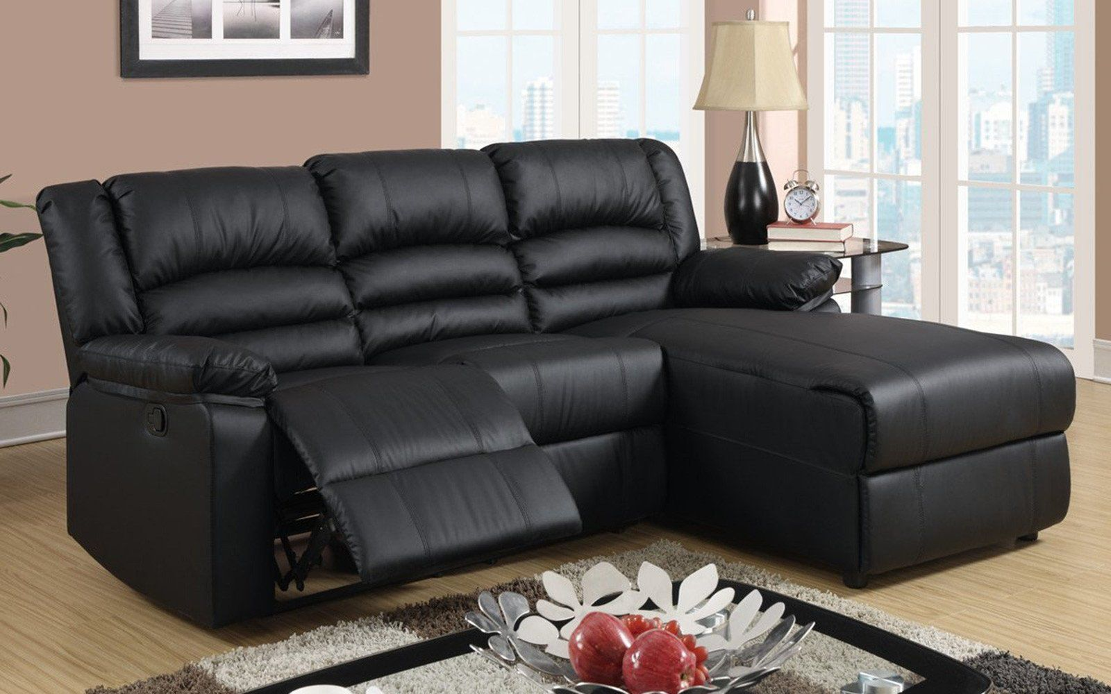 Orion Modern Small Recliner With Chaise Sofas For Small Spaces Sectional Sofa With Recliner Small Space Sectional Sofa