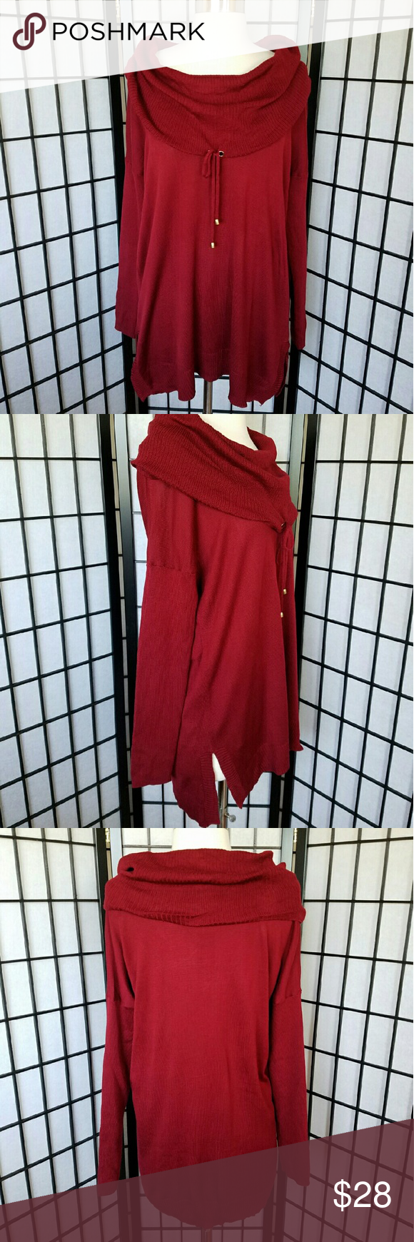 🚫SOLD🚫 Cable & Gauge Cowl Neck Tunic Sweater NWT | Tunic sweater ...