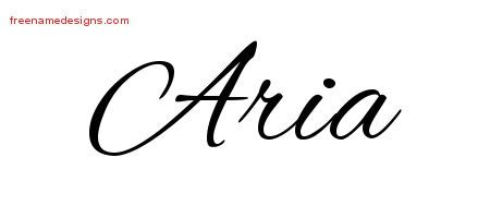 00517a5aa42c3 Aria Cursive Name Tattoo Designs | Aria | Name tattoo designs, Name ...
