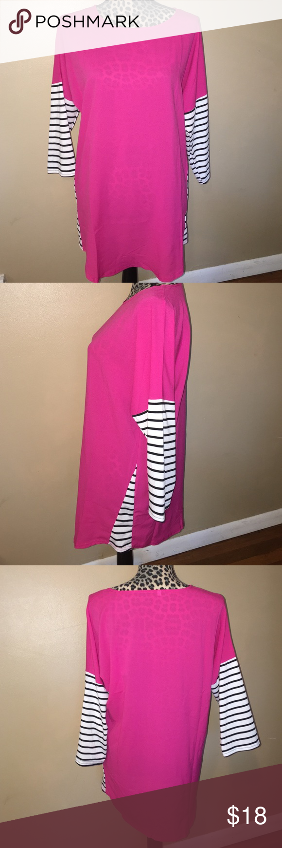"Cute Tunic Size xl but fits more like a large in my opinion.. 31"" long. Never worn Tops Tunics"