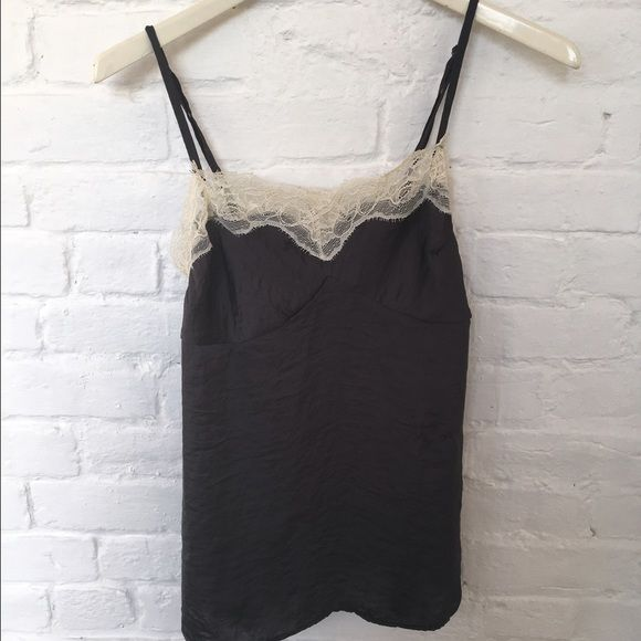 Lingerie style tank Perfect for a sexier look underneath a sweater or cardigan. From Charlotte Russe. Size small. Charlotte Russe Tops Camisoles