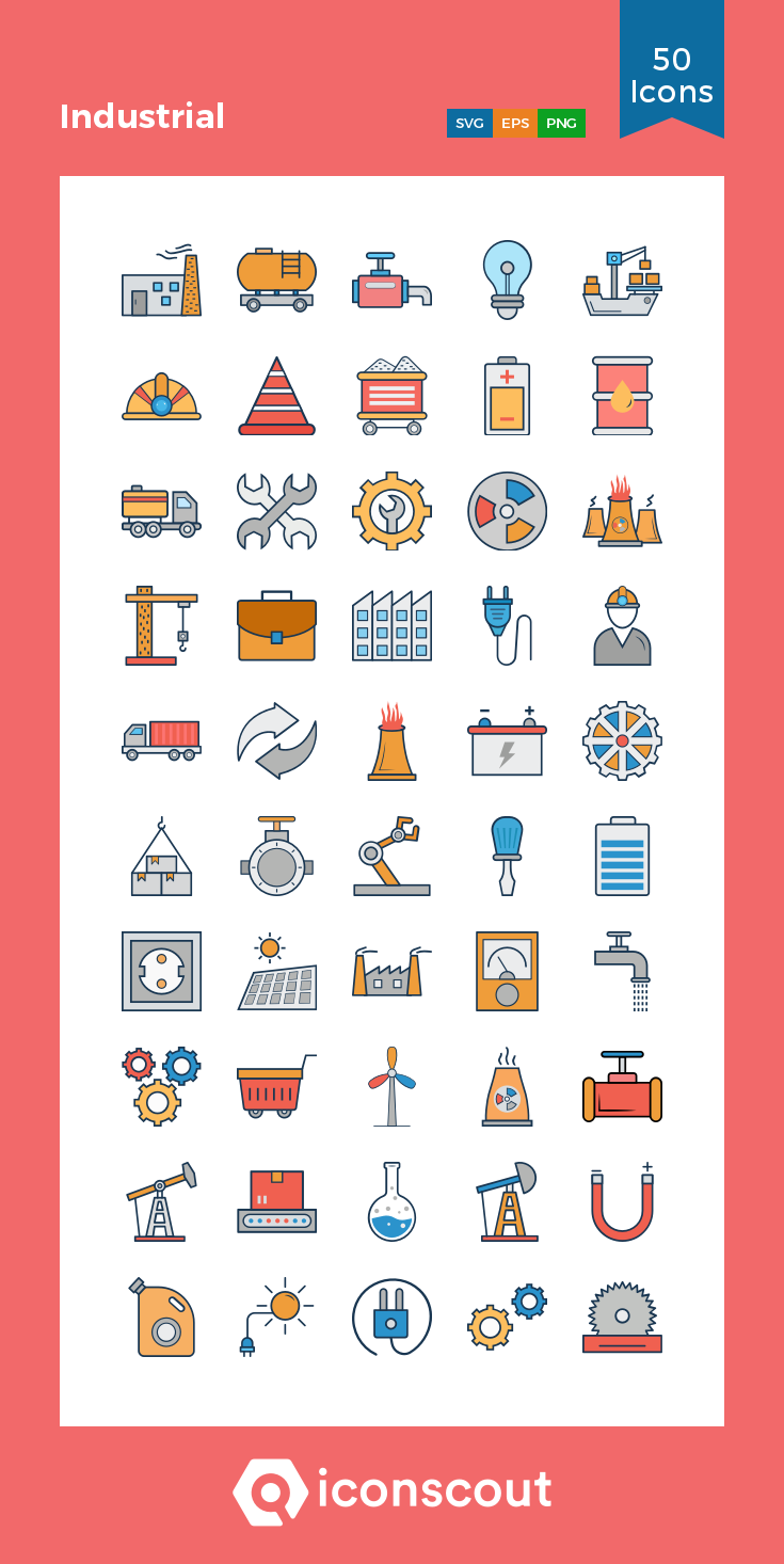 Download Industrial Icon pack Available in SVG, PNG, EPS