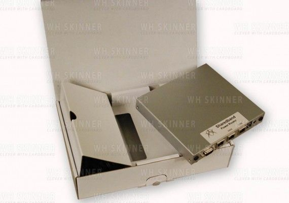 Box with Custom Inserts For Protection – WH Skinner  Custom protective packaging box for electronics equipment | Bespoke fitments/inserts keep contents of box from moving and therefore prevent damage in transit | Fully self-assembled, no gluing required, and 100% recyclable