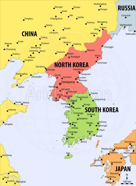 Korea-political-map-Series-VectorMap-A-SKU-9WBXHQA-zoomImgjpg (438 - best of world map at night korean