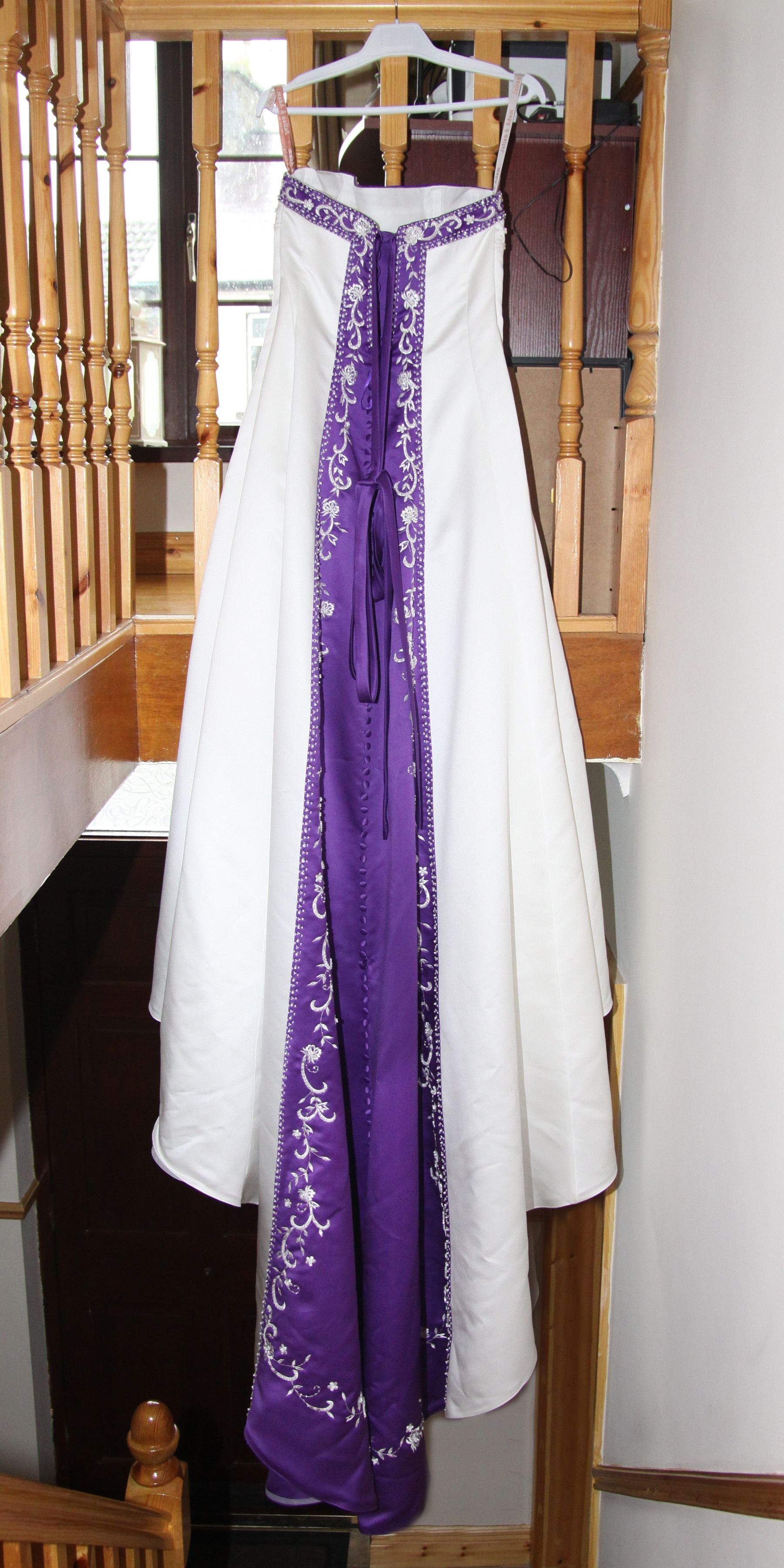 Back detail wedding dress  back detail of wedding dress Cadbury Purple Wedding  Kurti